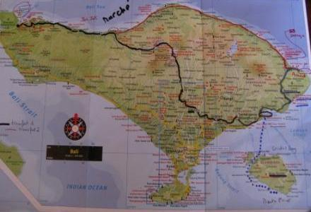 Début de safari : de Padangbai à Permeteran (route noire)