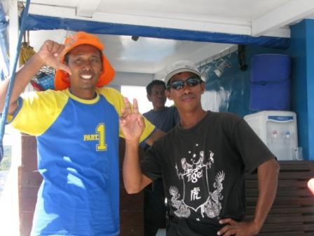 l'équipage du Tidak Apa Apa