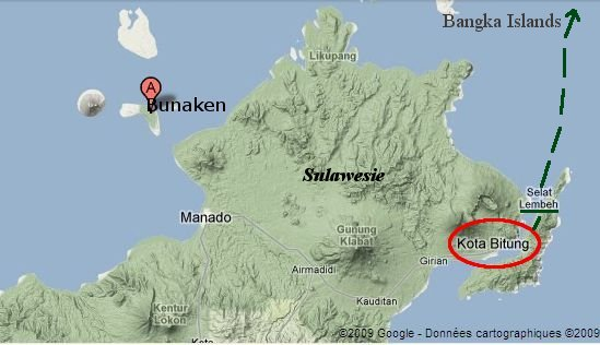 Bitung, Sulawesi Nord, carte google