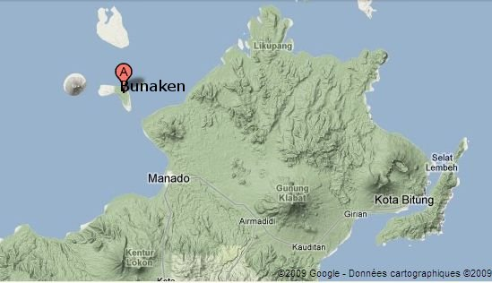 Pour situer Bunaken (Nord Sulawesi)