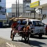 Carriole dans les rues de Manado