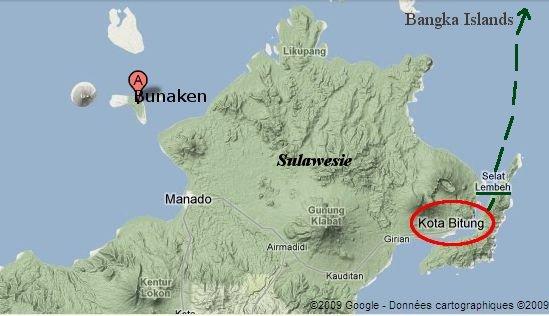Bitung, un port situé au Nord-Est de Sulawesi