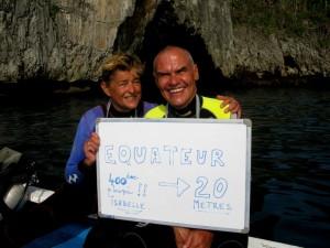 Une 400ème plongée et un passage de l'Equateur