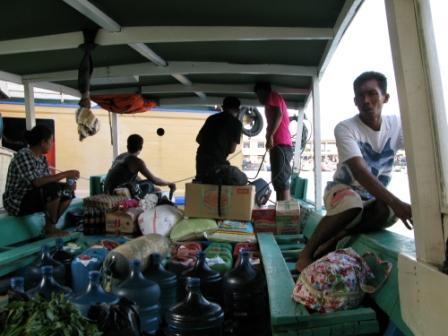 Bateau transfert entre Manado et Froggies