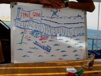 Schéma Hossein de la plongée sur l'Epave de Gobal (Egypte Croisière Nord)