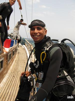 Départ plongée - Hossein